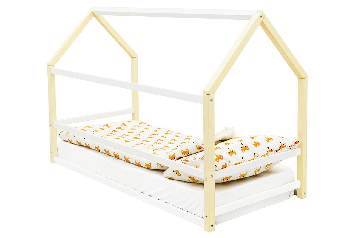 Кровать-домик Монтессори «Svogen» бежево-белый