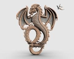 Силиконовый молд  № 378  Дракон Большой левый