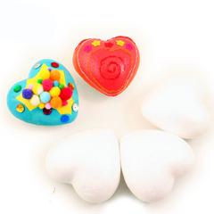 054-1630 Сердце из пенопласта (3 шт.) 4,5 см