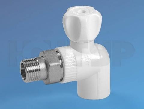 Кран радиаторный угловой PPR НР D20-1/2 ЭКО