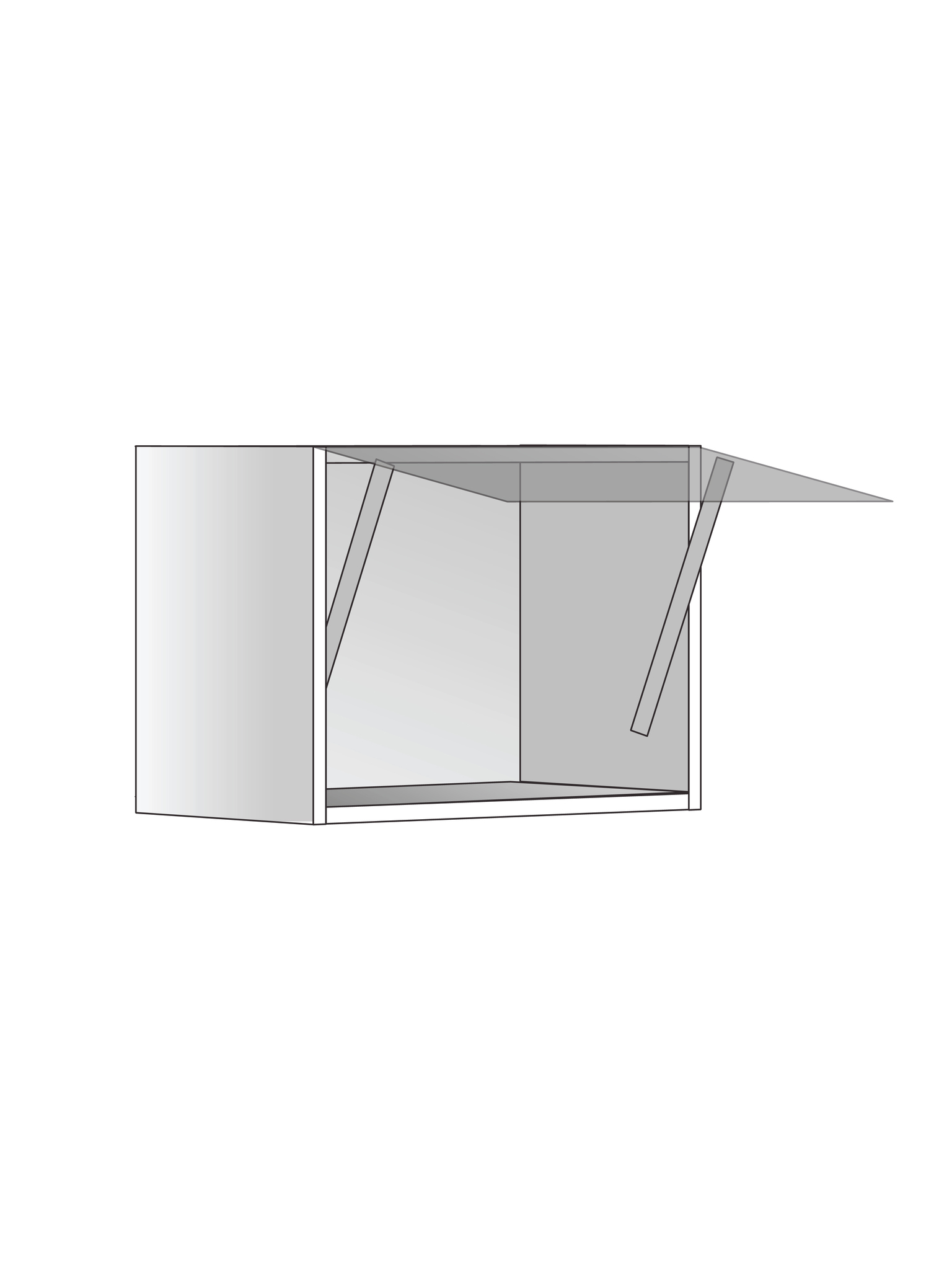 Верхний шкаф с подъемником, 360х450