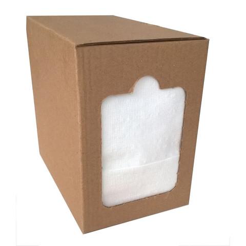 Салфетки бумажные 17x15.8 см белые 1-слойные 250 штук в упаковке
