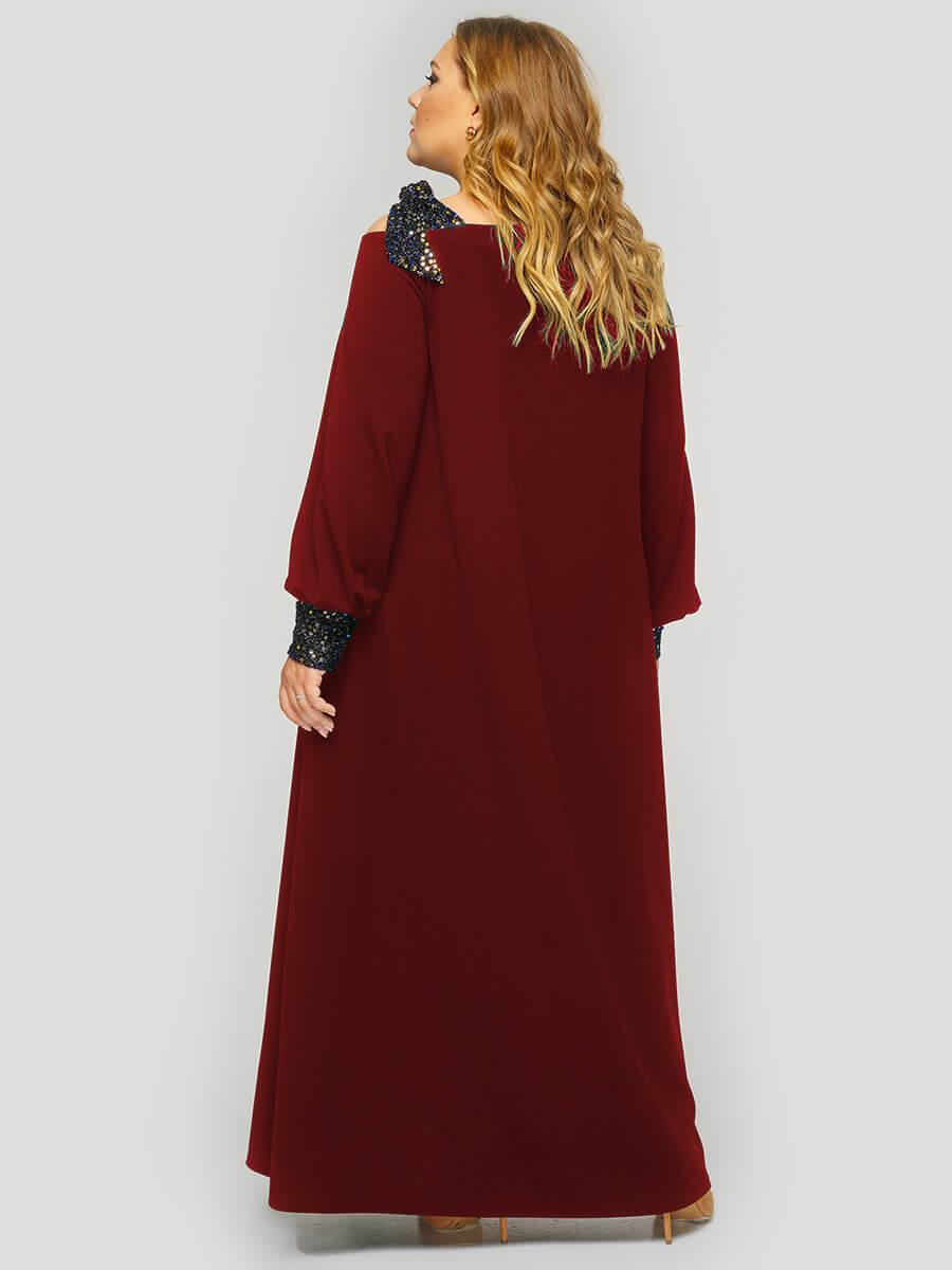 Длинное платье из крепа с пайетками