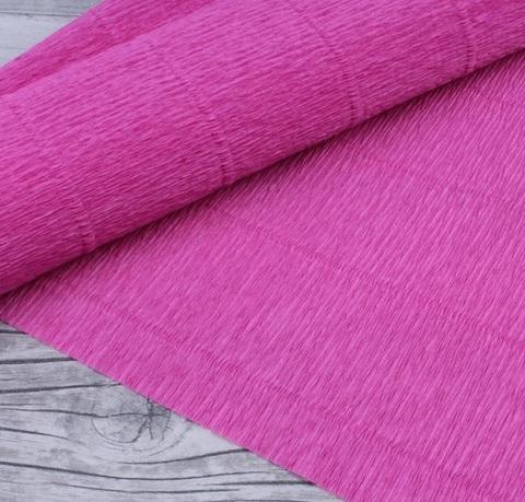 Гофрированная бумага однотонная. Цвет 550 насыщенно-розовый, 180 г