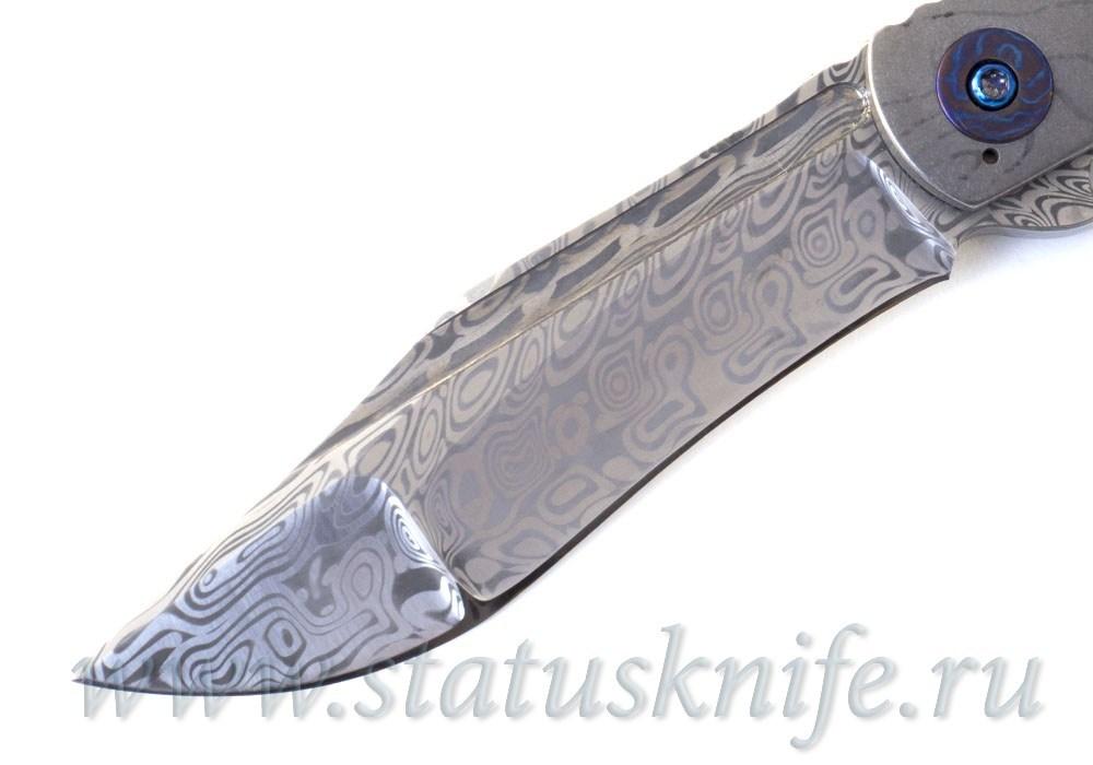 Нож Doc Shiffer Custom Damascus Topoline - фотография