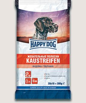 Happy Dog Лакомство для собак Happy Dog Жевательные полоски с индейкой Szhevatelnye_poloski_indeika.jpg