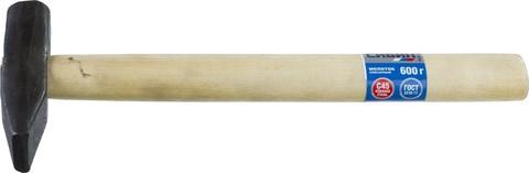 СИБИН 600 г молоток слесарный с деревянной рукояткой