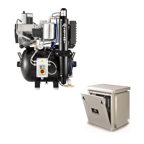 AC300 безмаcляный компрессор (4 установки - 3 цилиндра) Cattani