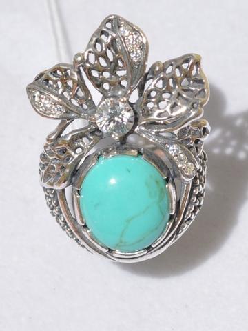 Тропикана (кольцо из серебра)