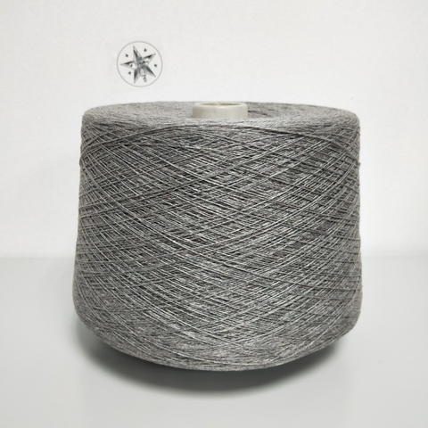 New Mill, Cashm/Seta, Шелк 50%, Кашемир 50%, Серый мулине, 2/28, 1400 м в 100 г