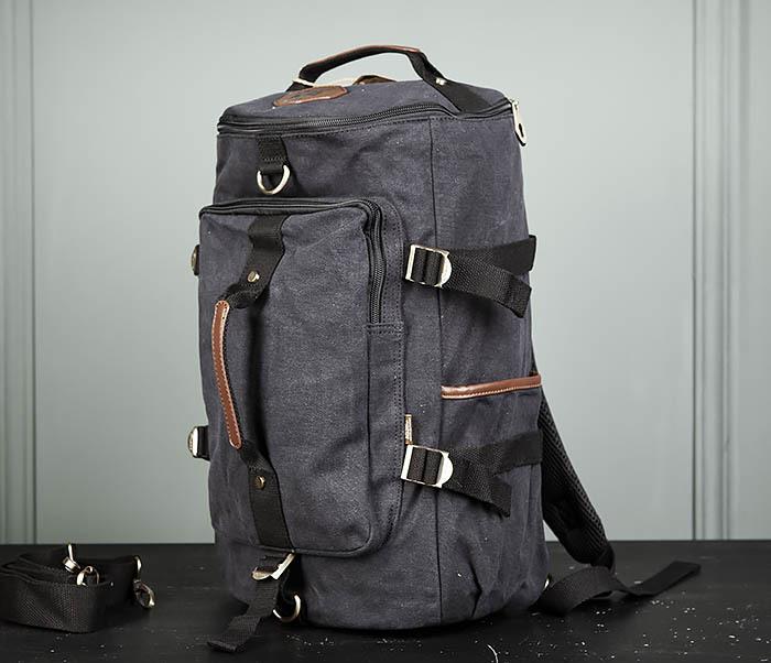 BAG368-1 Городская тканевая сумка рюкзак с ремнем на плечо фото 04