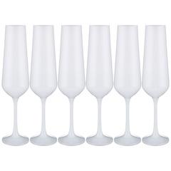 Набор бокалов для шампанского Sandra Sprayed white, 6 х 200 мл, фото 1