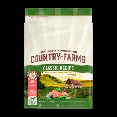 Country Farms Classic Recipe Сухой корм для взрослых собак с высоким содержанием лосося классический, полнорационный