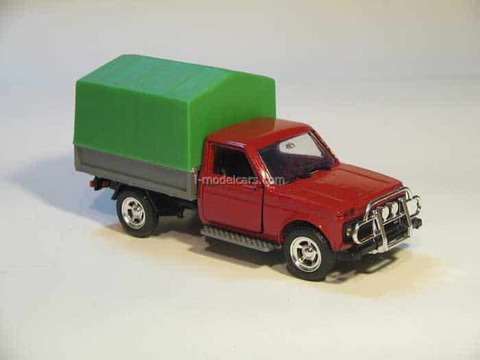VAZ-21213 Niva Lada Bison red with awning Agat Mossar Tantal 1:43