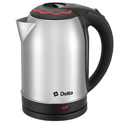 Чайник электрический 2000 Вт, 2 л DELTA DL-1330 c красной вставкой