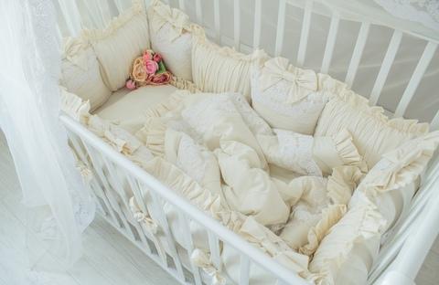 Комплект в кроватку Vanilla, на 4 стороны кроватки