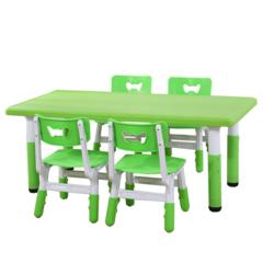 пластиковый регулируемый прямоугольный стол, 120х60см, зеленый. Для дома и детского сада