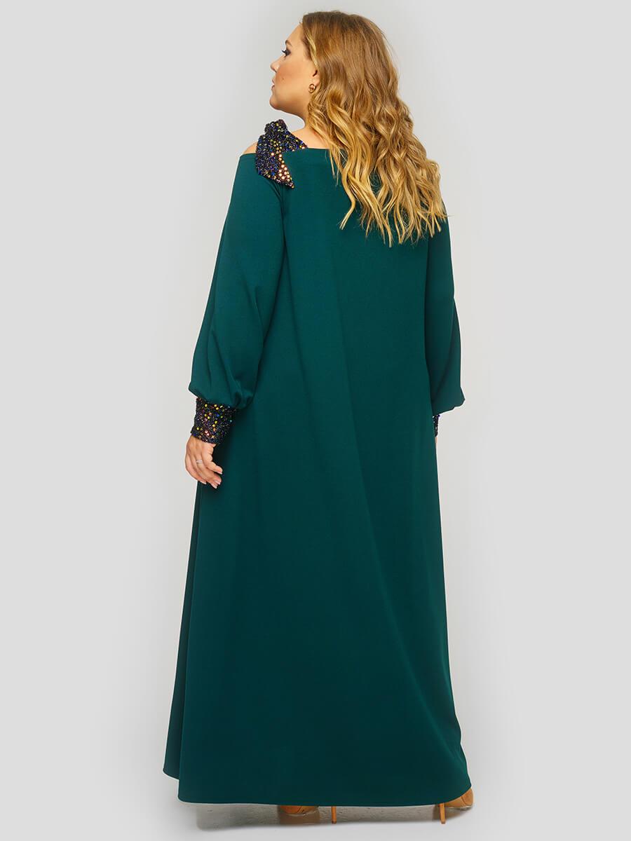 Зеленые нарядные платья больших размеров