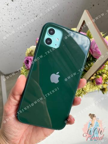 Чехол iPhone 11 Glass Pastel color Logo /virid/