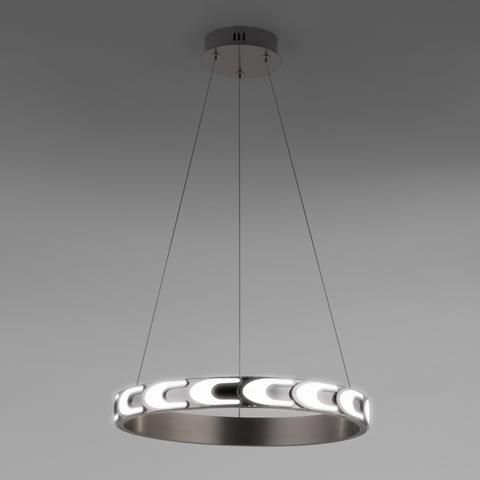 Подвесной светодиодный светильник с пультом управления 90163/1 сатин-никель