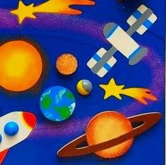 Мозаика деревянная Солнечная система