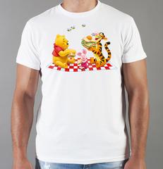 Футболка с принтом мультфильма Винни-Пух (Winnie the Pooh) белая 0018