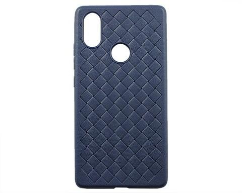 Чехол для Xiaomi Mi8 SE | серия плетение синий