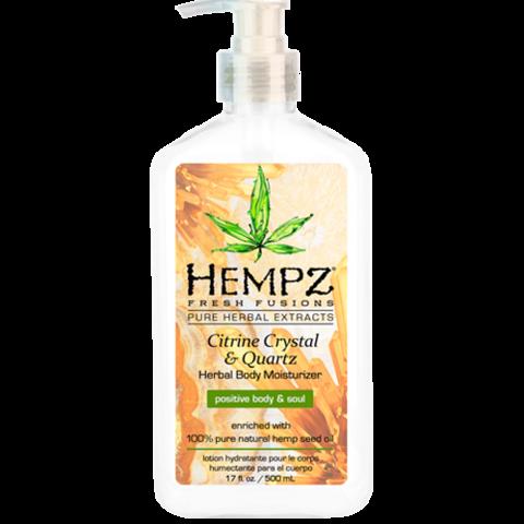 Молочко для тела увлажняющее с мерцающим эффектом Желтый Кварц / Hempz Citrine Crystal & Quartz Body Moisturizer