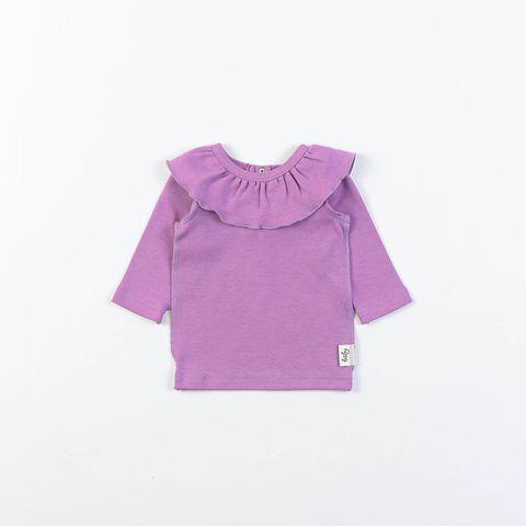 Ruffled long-sleeved T-shirt 0+, Lilac