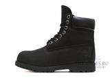 Ботинки Timberland 10061 Waterproof Black Женские С Мехом
