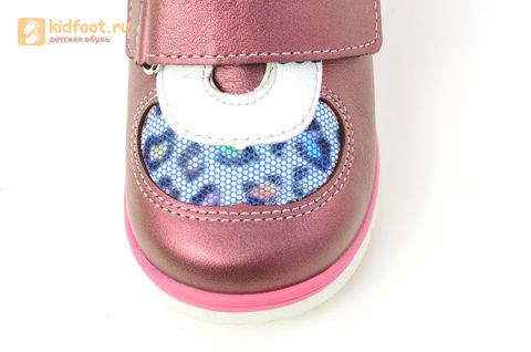 Детские ботинки Лель 3-1017 из натуральной кожи, для девочки, розовые. Изображение 12 из 14.