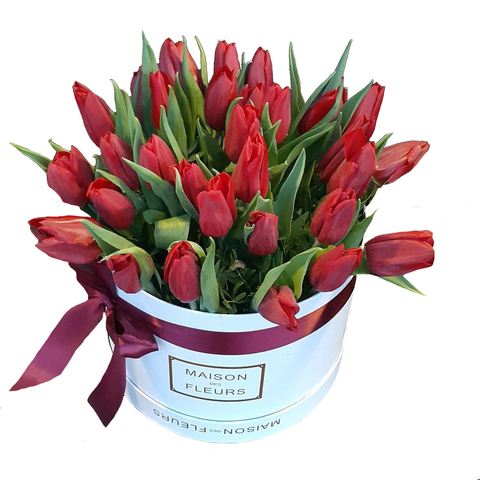 Коробка с тюльпанами 7