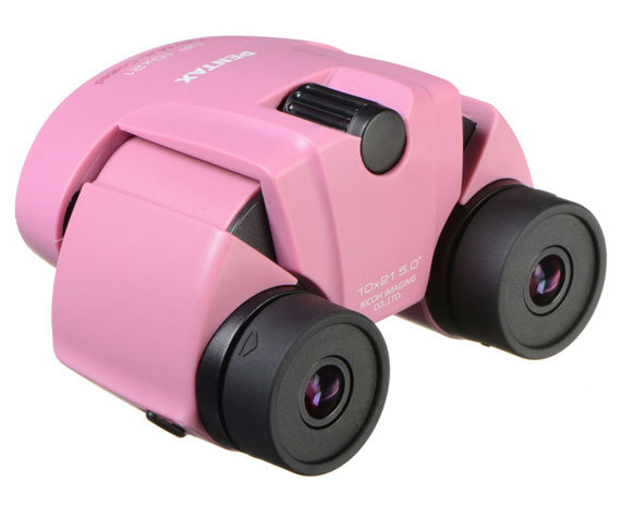 Бинокль Pentax UP 10x21 розовый - фото 4