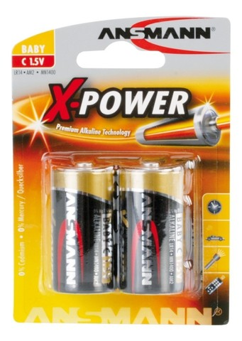Батарейки C ANSMANN X-POWER 1.5V - 2шт
