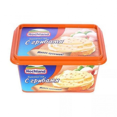 Сыр плавл HOCHLAND Грибы 400 гр ванн РОССИЯ