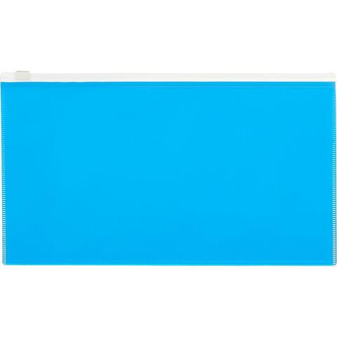 Папка на молнии 264х150 мм Attache Color , голубой