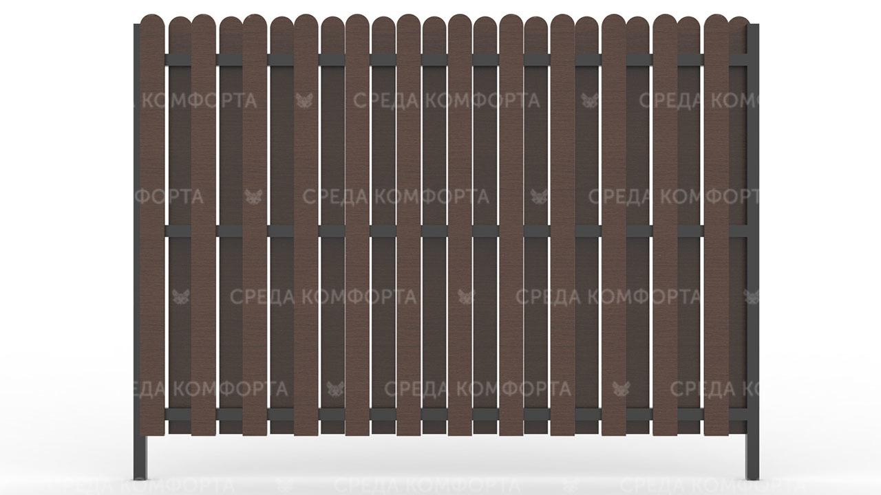 Деревянный забор ZBR0006
