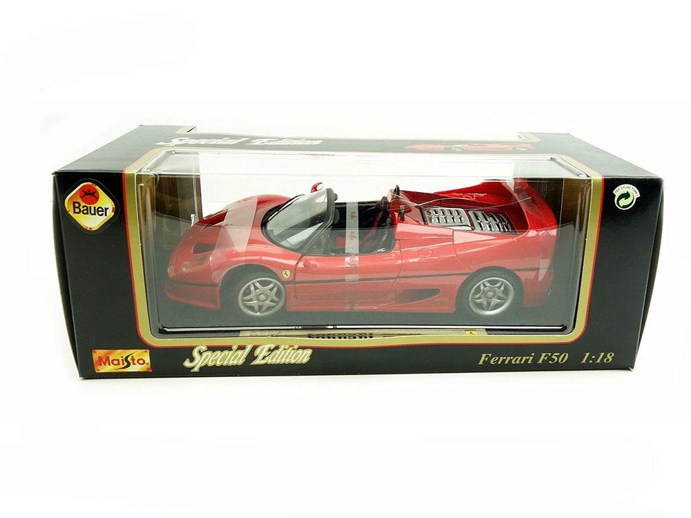Коллекционная модель Ferrari F50 Roadster 1995 Red