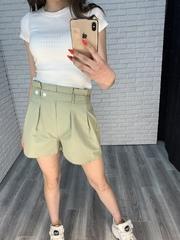 летние шорты с высокой талией женские интернет магазин