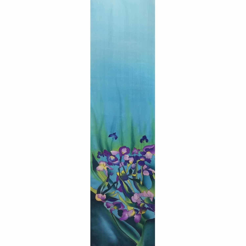 Шелковый шарф батик Ирисы Ван гог
