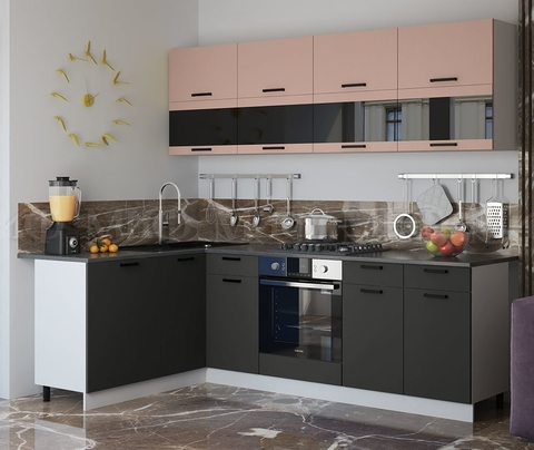 Кухня Угловая Техно NEW 1,6-2,4 м №4