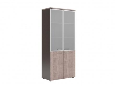 XHC 85.7 Шкаф комбинированный со стекло-дверями в раме (850х410х1930)