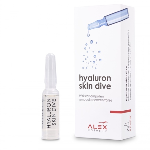 Концентрат для интенсивного увлажнения кожи 7x1,5 мл - Alex Hyaluron skin dive 7x1,5 ml