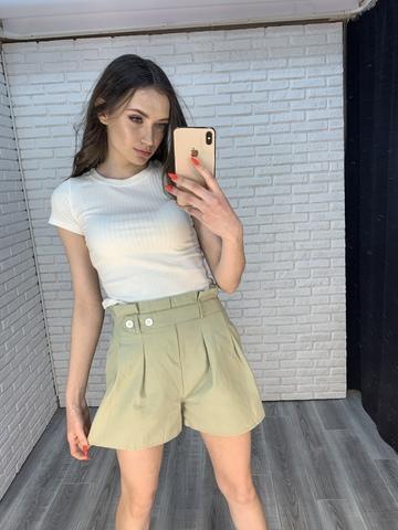 летние шорты с высокой талией женские купить