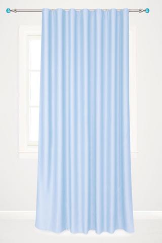 Готовая штора креп Дениз голубой