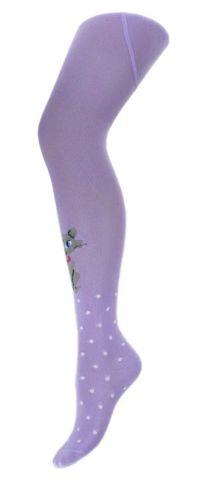 Колготки для девочки Мур-Мяу (сиреневый) Para socks