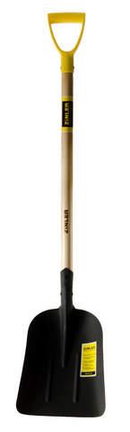 Лопата ZINLER большая совковая с деревянным черенком 740 мм и ручкой ЛБСЧ2р