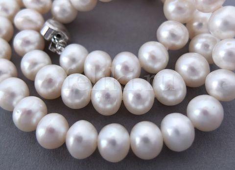 ожерелье из белого жемчуга