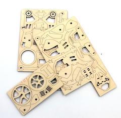 Конструктор 3D деревянный подвижный Lemmo Байк
