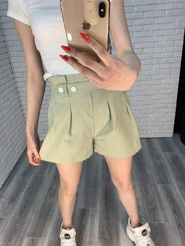 летние шорты с высокой талией женские оптом